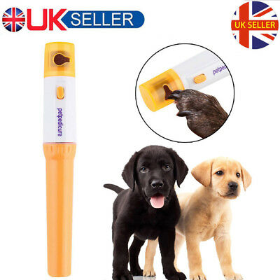 UK Electric Pet Dog Cat Paw Nail Grooming Grinder Trimmer Claw Clipper File sg1