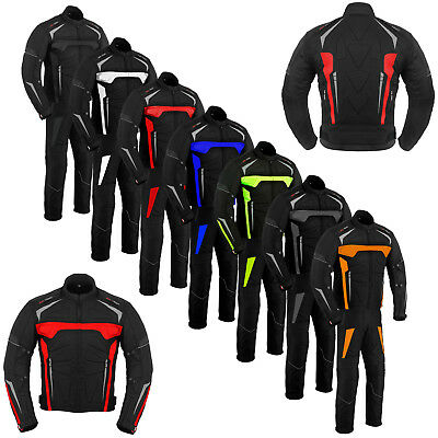 Motorcycle Motorbike Racing Cordura Suit Waterproof CE Armoured Jackets Trousers