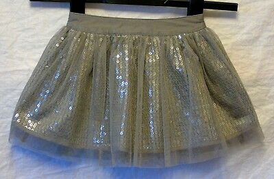 Baby Girls George Grey Sparkly Sequins Layered Party Skirt Age 18-24 Months