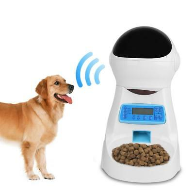 Automatic Pet Feeder Dog Cat Programmable Animal Food Bowl Timed Auto Dispenser.