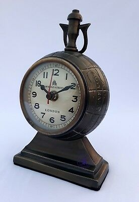7'' Brass Table Desktop Clock Maritime Vintage Replica Beautiful Nice Gift Item