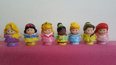 Fisher Price 7 Little People Disney Princesses figure toys