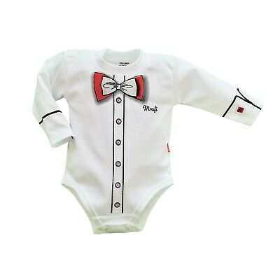 8Baby Boys Babygrow Bodysuit Smart Outfit Special Occasion Christening Christmas