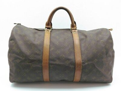 Sac A Main De Voyage Louis Vuitton Keepall 45 Monogram Cuir Travel Bag 1040€ a16e7743c75