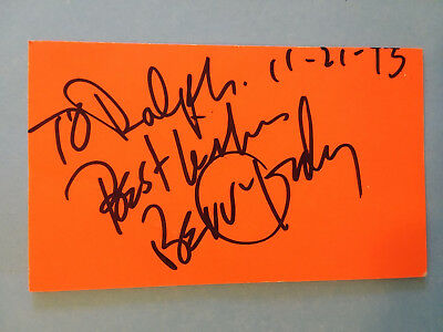 Berry Gordy Founder of Motown Records Signed AUTOGRAPHED 3X5 VERY RARE !