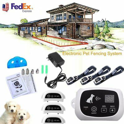 Wireless Electric Dog Pet Fence Containment System Transmitter Collar BE