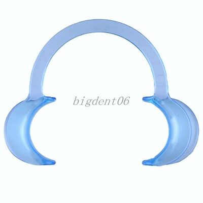 1pc Dental Teeth Whitening Cheek Retractor Mouth Opener C Type middle Size Blue