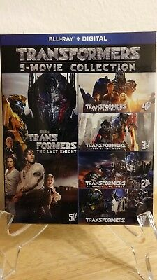 Transformers 5-Movie Collection Blu Ray Boxset HD + digital copy