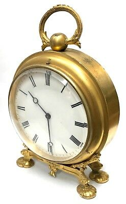 Antique Gilt Bronze Case Clock With French Movement W t & Co Fully Working