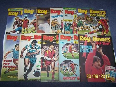 11 Roy of the Rovers  Comics 7, 14, 21, 28/1, 4, 11, 18, 25/2, 4, 11, 18/3/89