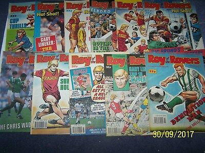 11 Roy of the Rovers  Comics 25/3 22 29/4, 6 13 20/5, 3/6, 29/7, 19 26/8,16/9/89