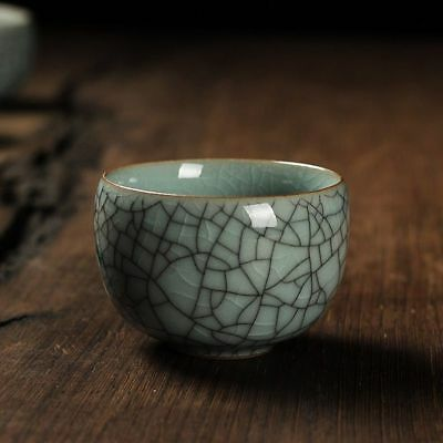 Chinese Celadon Tea Cup Multicolors Crack Effect Handmade Kung Fu Ceramic Cups