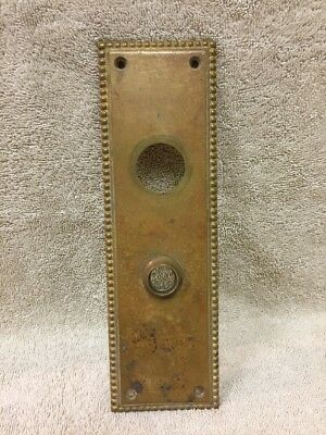 Antique Brass Classic Door Knob Back Plate Escutcheon W/o Keyhole