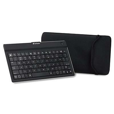 Verbatim Ultra-Slim Rechargable Wireless Bluetooth Keyboard for iPhone, Android