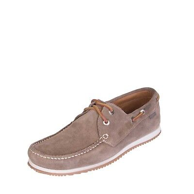 BYBLOS Suede Leather Deck Shoes EU 41 UK 7 Apron Toe Laced Made in Italy RRP€179