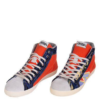 SPRINGA High Top Sneakers Size 43 UK9 Contrast Leather HANDMADE in Italy RRP€169