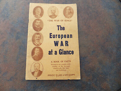 Original 1914 The War of Kings The European War at a Glance Book of Facts