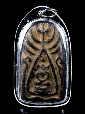 thai buddha amulet old Magic Powder PHRA SOMDEJ LP BOON The maestro POWERFUL