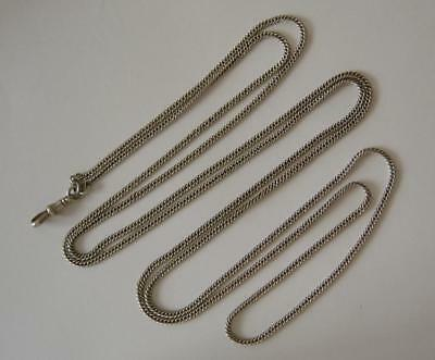 A Vintage Sterling Silver Longuard Chain 148 cms In Length 36 Grams