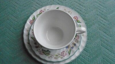 BHS x 2 VICTORIAN ROSE TRIO PLATE-CUP-SAUCER- UNUSED VGC