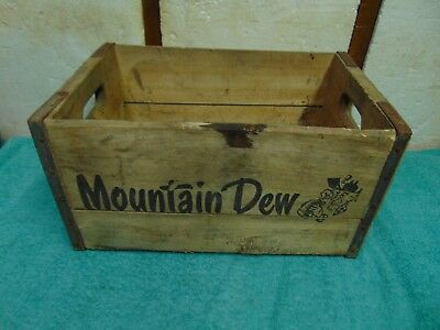 1965 Vintage Mountain Dew Wooden Soda Crate Hillbilly Logo