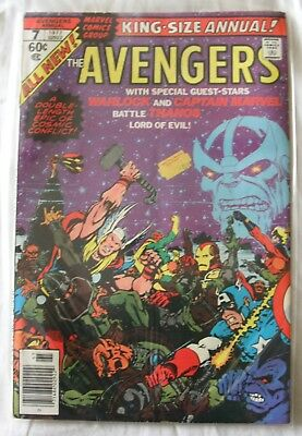 AVENGERS KING SIZE ANNUAL #7 - DEATH OF ADAM WARLOCK - THANOS Infinity Stones