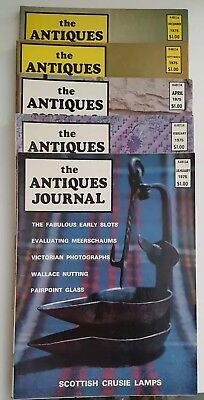 Antiques Journals 1975 Lot of 5 ~ Jan./Feb./April/September & December