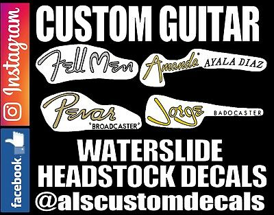 Guitar Headstock Waterslide Decals for Light wood (sealed)