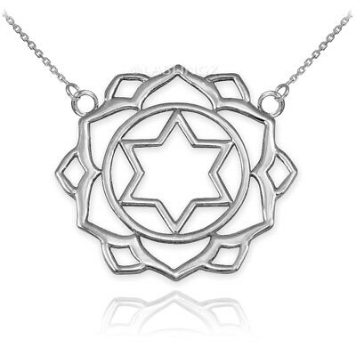 Sterling Silver Anahata (Love) 4th Chakra Womens Yoga Necklace