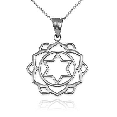 Sterling Silver Anahata (Love) 4th Chakra Womens Yoga Pendant Necklace