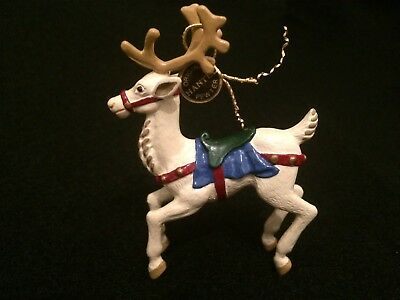 Hantel Pewter Miniatures VM105 Ivory Reindeer With box and tag