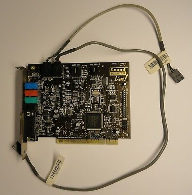Creative Labs CT4830 Sound Blaster Live! PCI Audio Sound Card