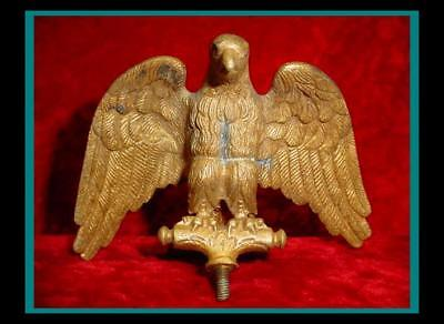 Old CIVIL WAR Roman Style / French MILITARY Bronze /Brass EAGLE FLAG POLE FINIAL