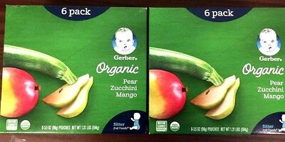 2 Pack-Gerber Organic 2nd Foods Baby Food-Fruit & Veggie Variety-3.5 oz Pouch