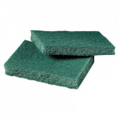 3M/COMMERCIAL TAPE DIV 59166 General Purpose Scrub Pad, 3 x 4 1/2, Green, 40
