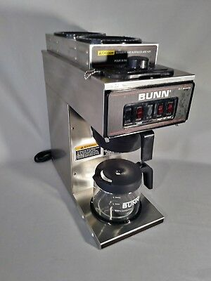 Bunn VP17-3 Coffee Brewer 3 Burner, Cleaned, Descaled and New Limit Thermostat.