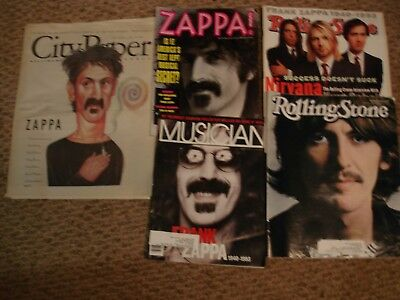Lot of 5>City Paper ZAPPA.MUSICIAN>ROLLING STONE 1940-1993