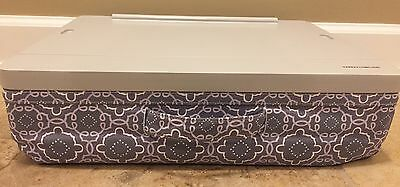 NEW Pottery Barn Teen Canvas Superstorage Lap Desk GRAY PURPLE MEDALLION