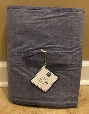 NEW Pottery Barn Teen Dorm EXTRA LARGE See-Thru Underbed Organizer CHAMBRAY