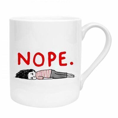New Ohh Deer Gemma Correll Nope Fine Bone China Gift Mug UK Made Coffee Cup