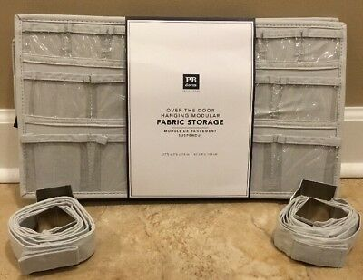 NEW Pottery Barn Teen Over The Door Modular Fabric Storage GRAY