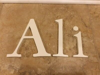 "NEW Pottery Barn Kids Simply WHITE Letters Wall Decor ""Ali"""