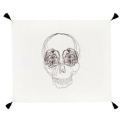 NEW Pottery Barn Teen Emily + Meritt The Skull Tapesrty WHITE + BLACK