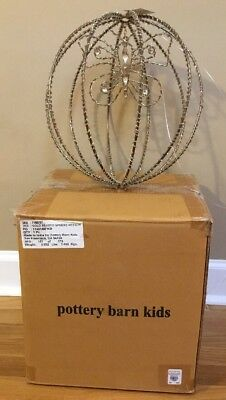 NEW Pottery Barn Kids Butterfly Beaded MEDIUM Sphere GOLD