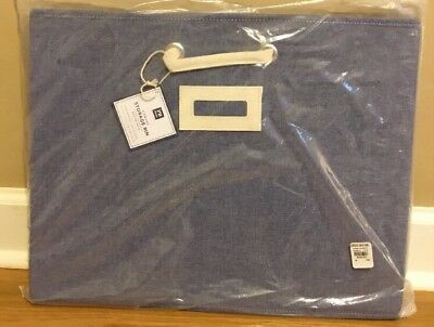 NEW Pottery Barn Teen Solid Canvas Bin CHAMBRAY Large Under Bed
