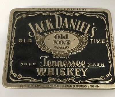 Vintage Jack Daniels Belt Buckle Advertising Nice!