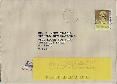 Hong Kong Stamps: 1992 Cover with $2.30 QEII Definitive to Utah, USA