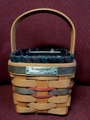 1993 Longaberger Inaugural Basket With Liner And Protector