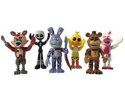 five Nights Freddy Action Fnaf Figure Figures Toys New 6Pc Gift Set Nightmare