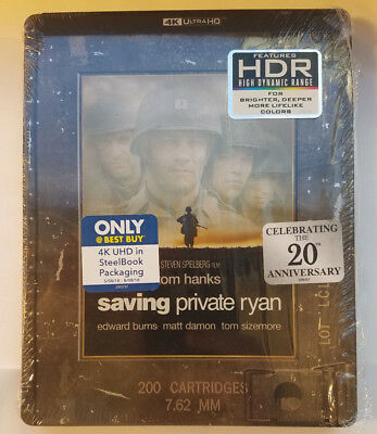 Saving Private Ryan UHD 4K OOP STEELBOOK  (DISC WAS NEVER PLAYED, No Digital)